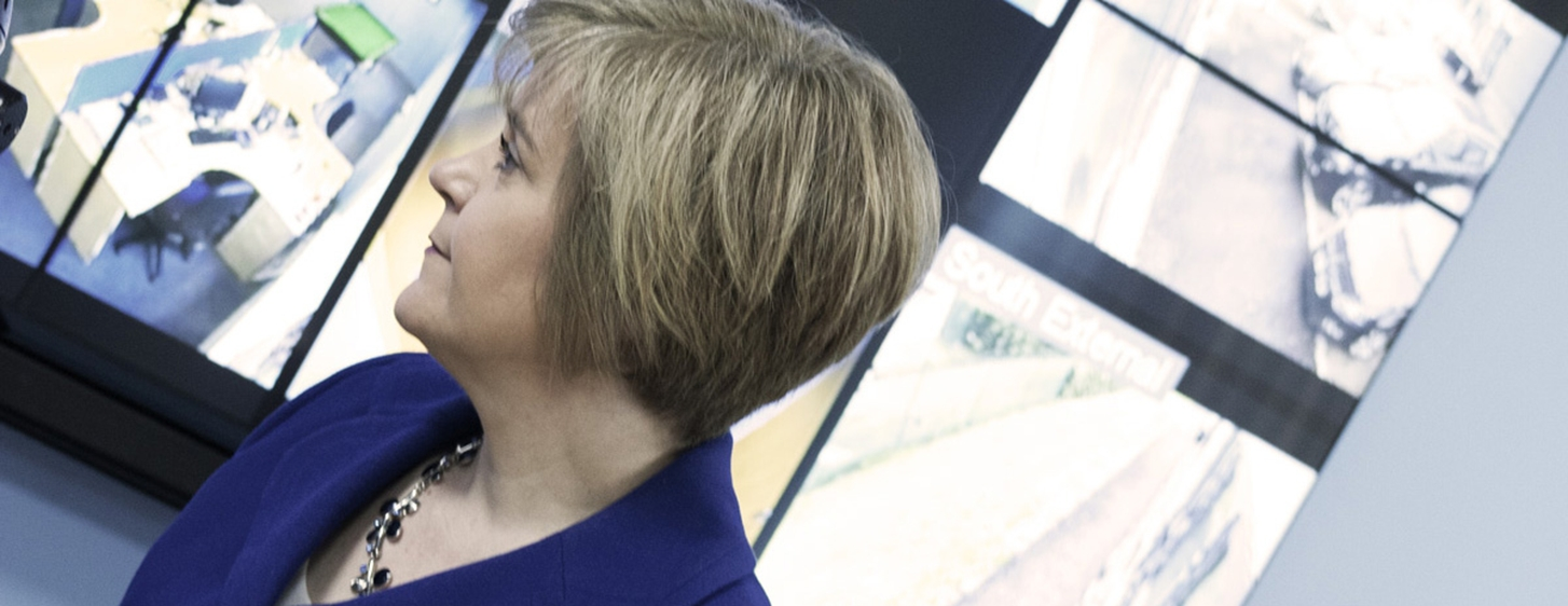 Nicola sturgeon visits Visual Management Systems
